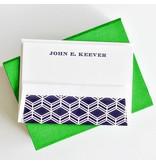 Haute Papier Petite Green Stationery Box