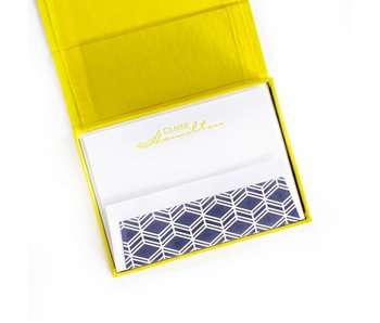 Petite Yellow Stationery Box