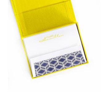 Petite Yellow Stationery Box