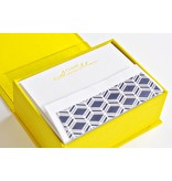 Haute Papier Petite Yellow Stationery Box