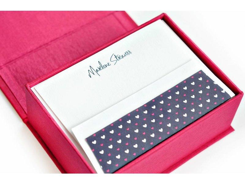 Haute Papier Petite Magenta Stationery Box