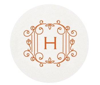 Letterpress Coaster - M172