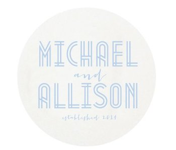 Letterpress Coaster - Deco Wedding