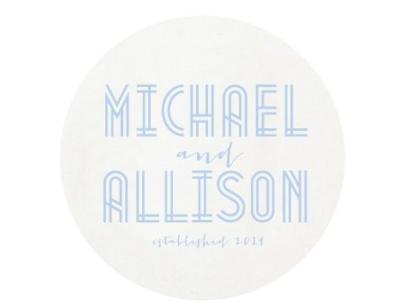 Haute Papier Letterpress Coaster - Deco Wedding