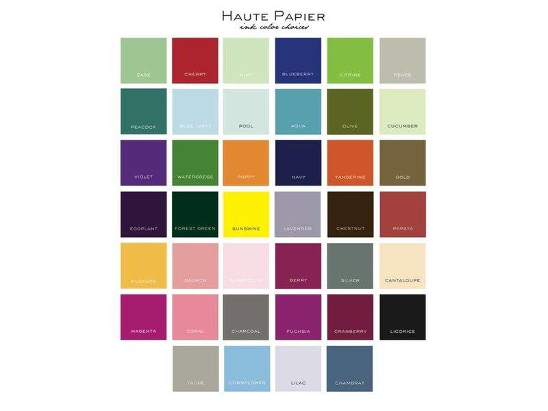 Haute Papier Letterpress Coaster - Deco Wedding