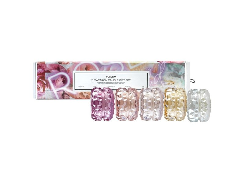 Voluspa Macaron Collection Giftset - Roses