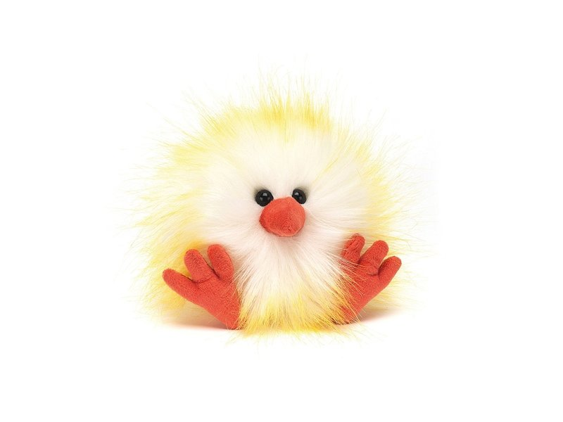 JellyCat Inc Crazy Chick White & Yellow