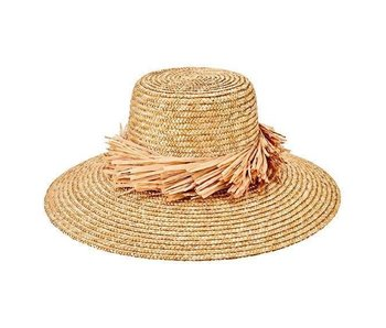 Wheat Straw Hat with Raffia