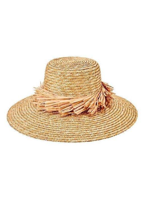 Wheat Straw Hat with Raffia