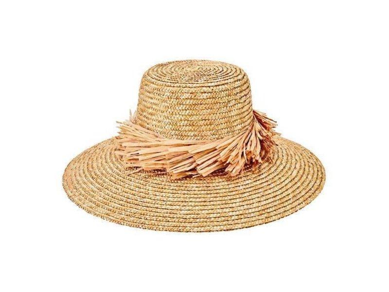 San Diego Hat Company Wheat Straw Hat with Raffia