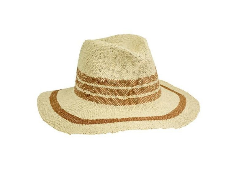 San Diego Hat Company Fedora Pop Of Color Hat in Tan