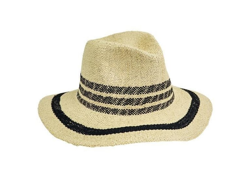 San Diego Hat Company Fedora Pop Of Color Hat in Black