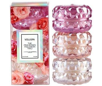 Roses 3 Macaron Candle Giftset