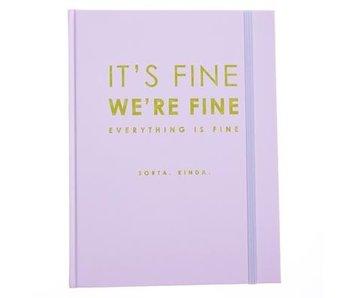 Lavender and Lime Hardbound Journal