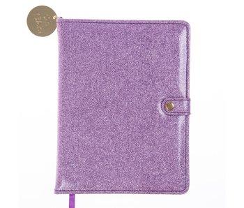 Lavender Glitter Snap Journal