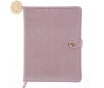 Pink Velvet Snap Journal