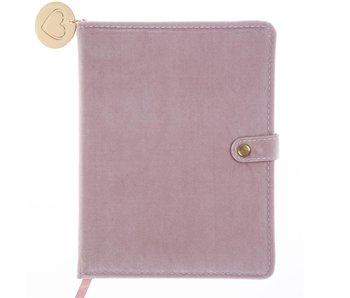 Pink Velvet Snap Journal