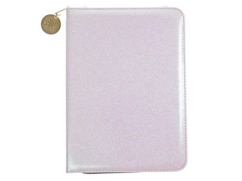 Graphique De France White Glitter Folio Organizer