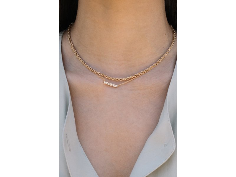 Jurate Brown Hey Mama Necklace