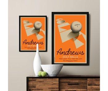 Golf Ball Custom Poster