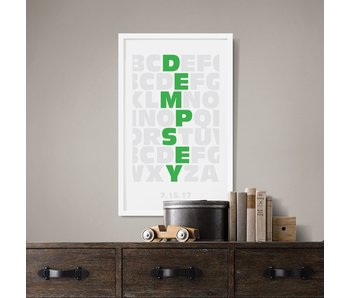 Alphabet Thick Custom Poster