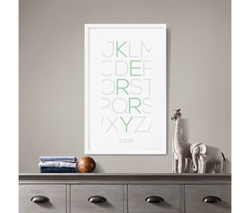Alphabet Thin Custom Poster