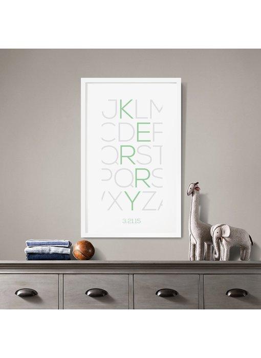 Alphabet Thin Custom Poster
