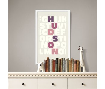 Alphabet White Custom Poster