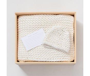 """Organic Cotton Knit Ivory Gift Set 32""""x40'"""