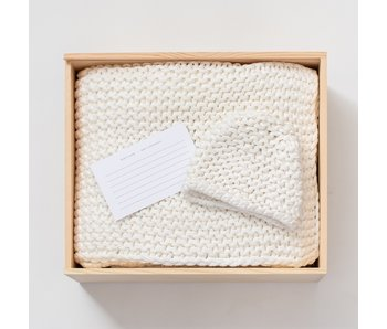 Organic Cotton Knit Ivory Gift Set