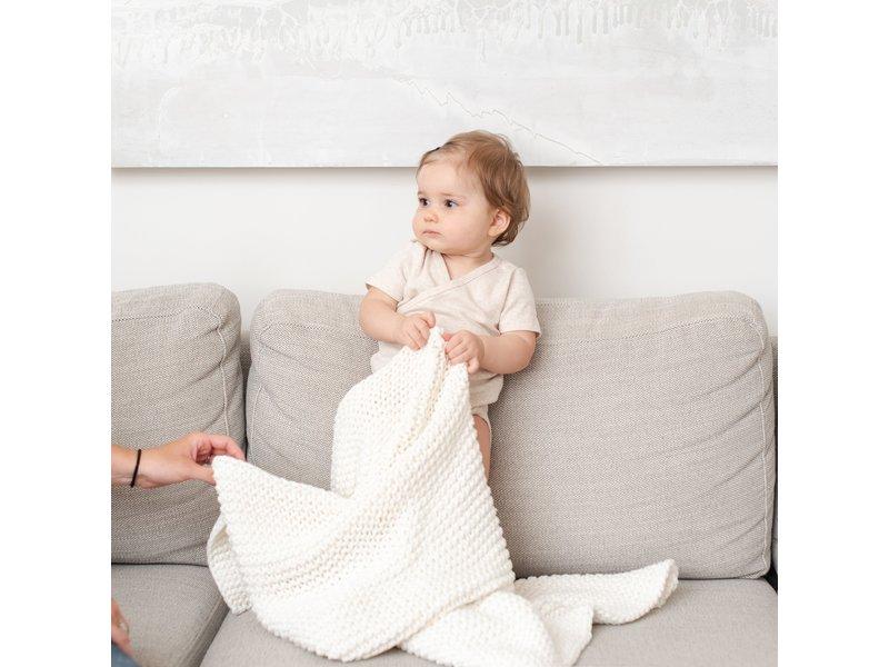 Zestt Organic Cotton Baby Knit Ivory Gift Set