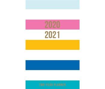 Fun Stripes 2 Year Pocket Planner