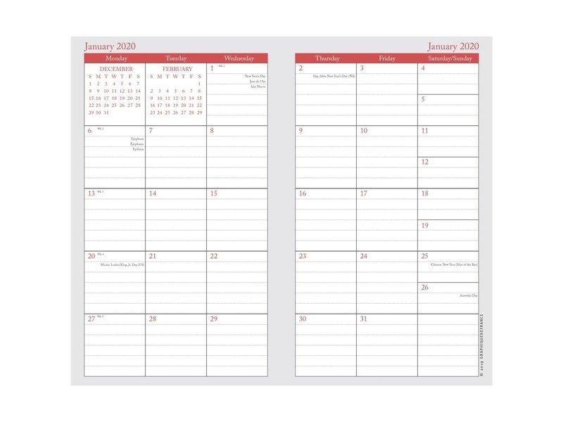 Graphique De France Fun Stripes 2 Year Pocket Planner
