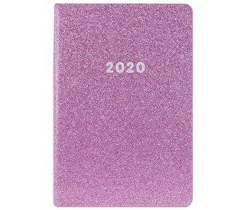 Leatherette Agenda Purple Glitter