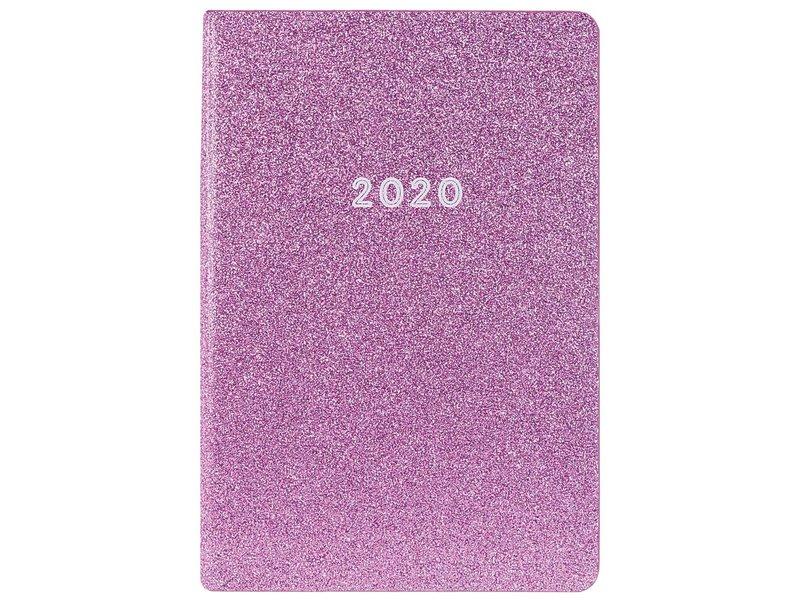 Graphique De France Leatherette Agenda Purple Glitter