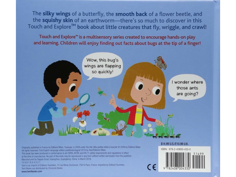Chronicle Books (Hachette, Mudpuppy) Touch and Explore Bugs