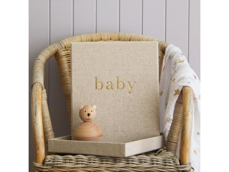 Write to Me Stationary & Press Baby Journal- The First Year of You