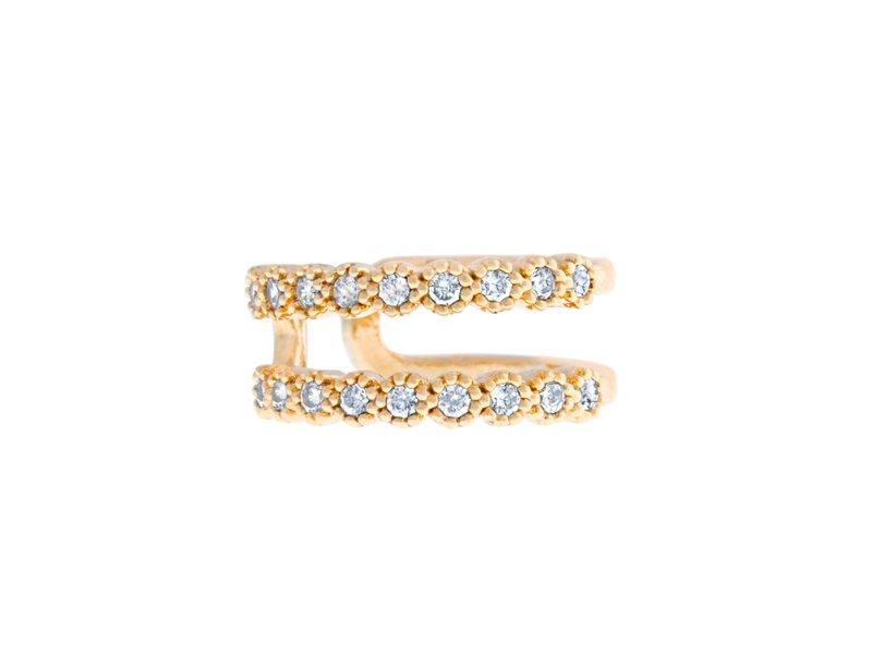 Cubic Tru Cuffs Gold