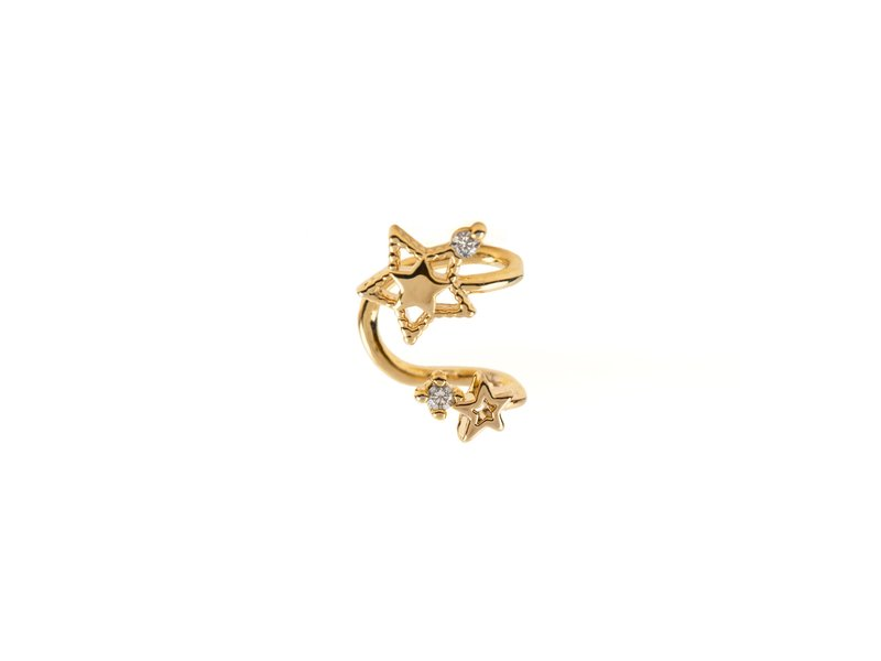 Girls Crew Double Star Cuff Gold