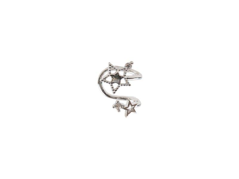 Double Star Cuff Silver