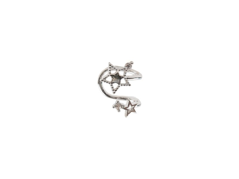 Girls Crew Double Star Cuff Silver