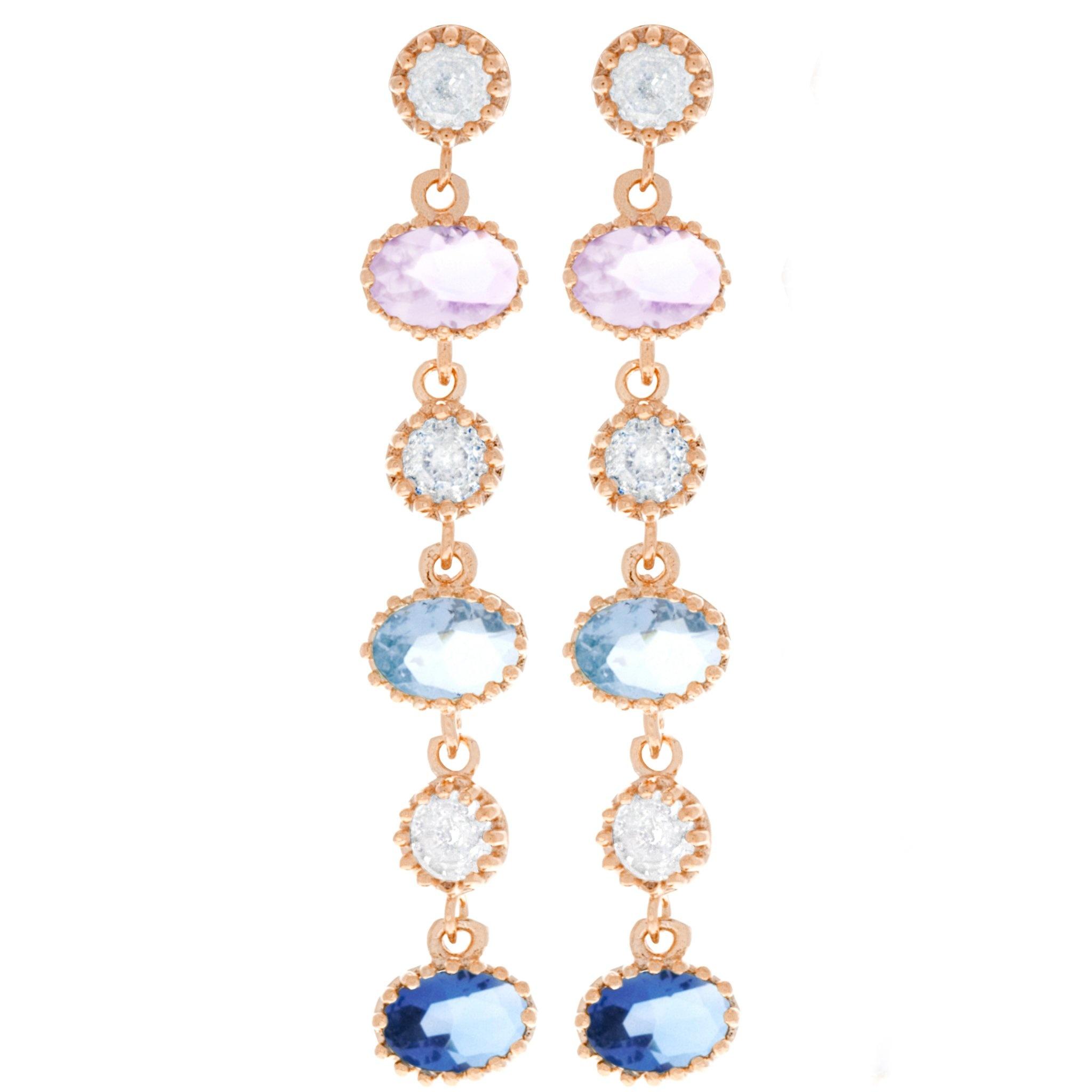Cinderella Dangle Earrings Rose Gold