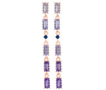 Violet Dangle Earrings Rose Gold