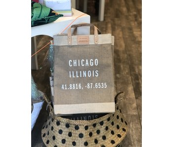 Chicago Coordinates Natural Market Bag