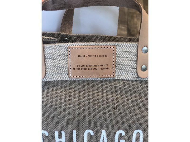 Apolis Global Citizen Chicago Coordinates Natural Market Bag