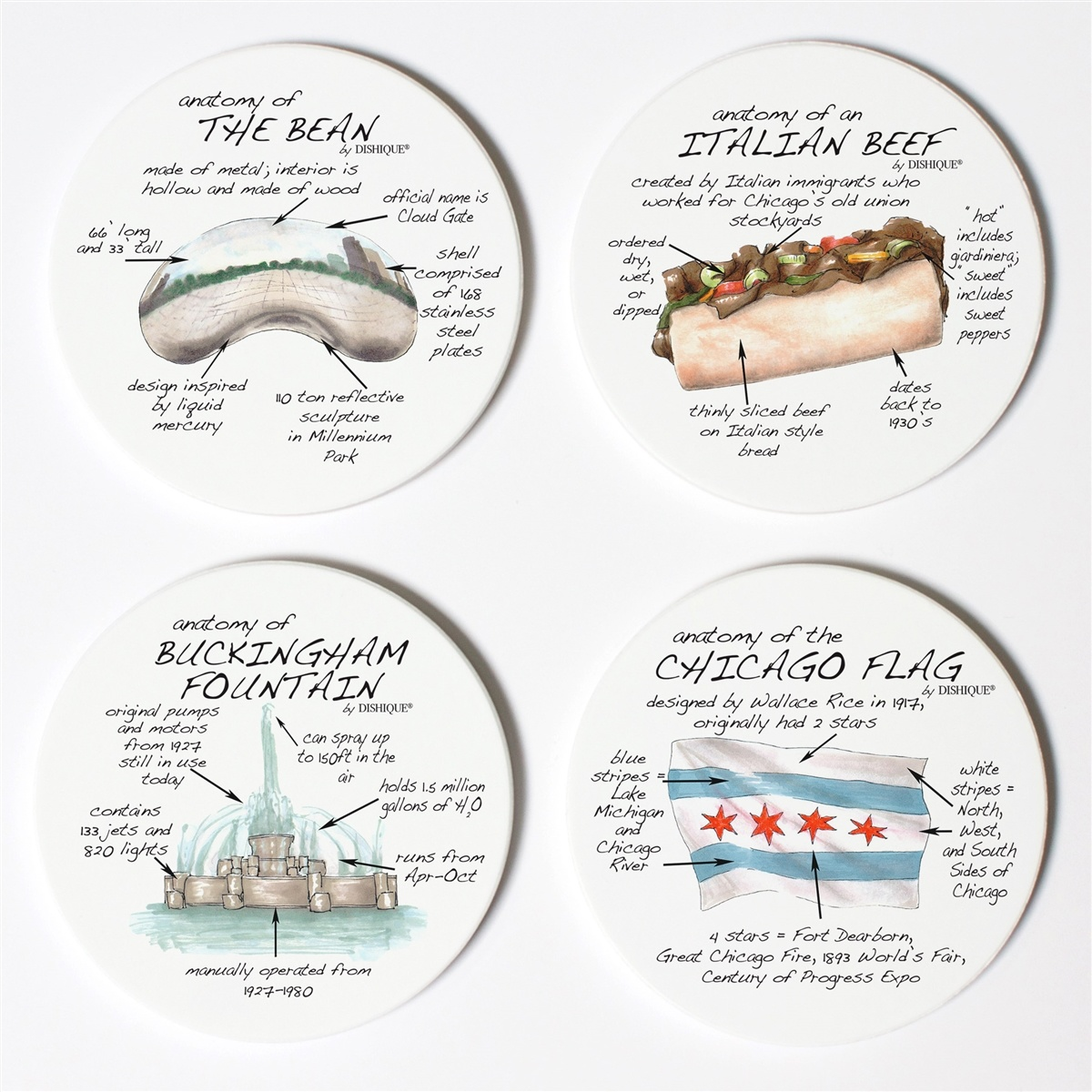 NEW Chicago Coasters