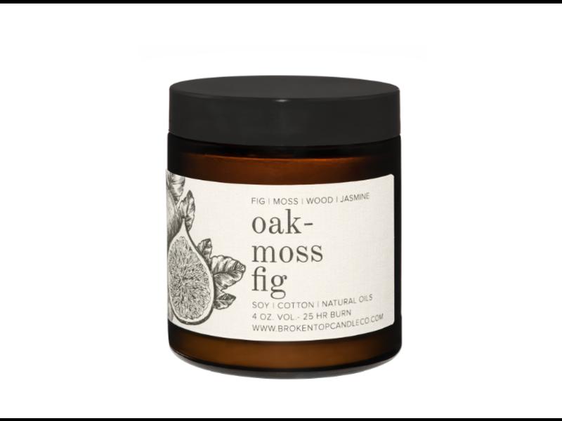 Broken Top Candle Company Oakmoss Fig 4 oz.