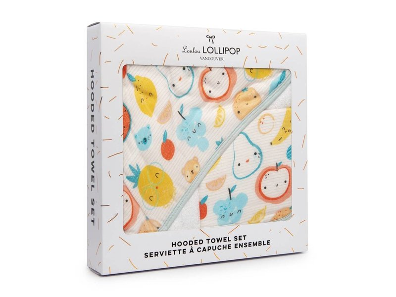 Loulou Lollipop Hooded Towel Sets Cutie Fruits