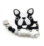 Loulou Lollipop Boston Terrier Silicone Teether Set