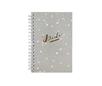 Bride Lined White Paint Splatter Journal